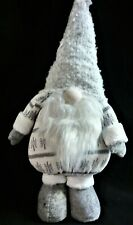 "Nwt North Pole Trading Co. 23"" Tall Stuffed Gnome, Gray & White Clothing"