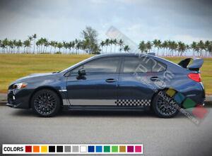 2Sticker Decal Vinyl Side Door Stripes for Subaru Impreza 2011-2016 WRX STI Wing