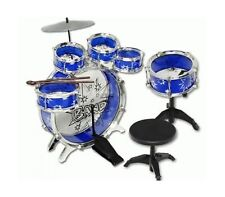11pc Kids Boy Girl Drum Set Musical Instrument Toy Playset BLUE