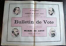 LA LUNE ROUSSE, N° 37 , dimanche 19 aout 1877, bulletin de vote