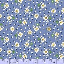 Fabric Marcus Aunt Grace 30s Repro Daisy toss blue 6258-0350 BTHY