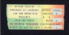 1979 Jean Luc Ponty concert ticket stub Uptown Theatre Chicago Illinois