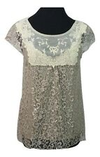 HD IN PARIS Top Size 8 Champagne & Silver Lace Party Evening Wedding Races *