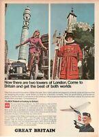 1967 Original Advertising' Vintage Bea Airways Airlines British Great Britain 3c