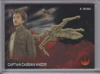 TOPPS STAR WARS ROGUE ONE CASSIAN ANDOR GOLD Medallion CARD 43/50