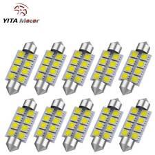 YITAMOTOR 10X White 42MM 211-2 Festoon Dome Map Interior LED Light Bulb 6000K