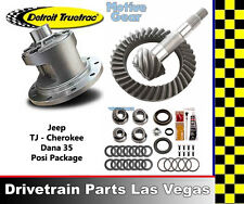 Jeep Wrangler TJ Detroit Truetrac Dana 35 Posi Pkg Gear Set and Master Kit 4.11