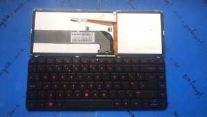 New FOR HP Pavilion dv4-3000 dv4-3100 dv4-3200 Backlit UK Keyboard Red Word