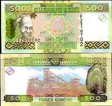GUINEA 500 FRANCS 2006 P 39 UNC LOT 10 PCS