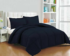 Solid Navy Blue Down Alternative Comforter 200 GSM All Seasons King Size