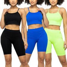 Para mujeres Corto Top & Shorts Casuales Atléticas espaguetis correa de motorista Fitness Set Top