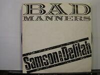 "Bad Manners- Samson & Delilah c/w Your + 1 -12"" Vinyl- Free UK Post"