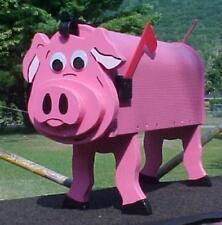 Pink Pig Mailbox Custom Pigs Hog Swine Mailboxes Postal Mail Box Hogs Swines