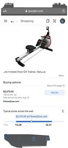 LIFE FITNESS ROW GX TRAINER Water Rower