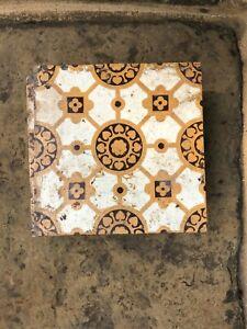 5 x Victorian fireplace tiles