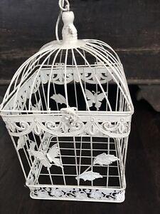 Shabby Chic Square Home Decor 33cm Bird Cage