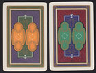 2 Single VINTAGE Swap/Playing Cards US ART DECO DESIGNS White Stars Gold Detail