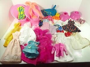 Mixed Barbie Doll Clothes Lot Dresses Mattel 1980s 90s Vintage Skipper Wedding