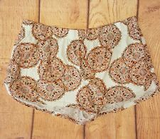 Cacique Women's Pajama Shorts Beige Coral Mandala Size 22 24 Plus Size