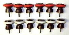 Set of 12 Valley Bumper Pool Table Jewel Mahogany Wood Bumper Post & Rings