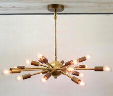 18 Light Mid Century Brass Sputnik atomic chandelier starburst light Fixture