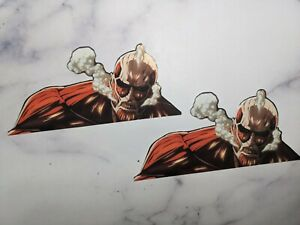 X2 Colossal Titan Peeking Window Sticker Decal