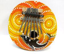 Kalimba mit 7 Zungen Daumenklavier Musikinstrumente Delphin bunt Holz Drums NEU