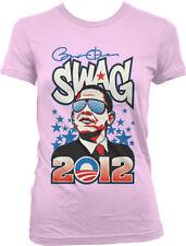 Obama Presidential Campaign 2012 Swag Hip Hop Rap Juniors T-shirt