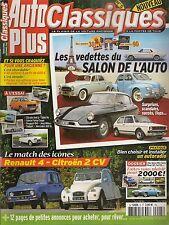AUTO PLUS CLASSIQUES 5 DOSSIER 15p LES STARS DU SALON DE PARIS 2CV6 SPECIAL R4 S