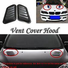 Universal Pair Autos Air Flow/Intake Vent Cover Hood Fender Decorative Plastic