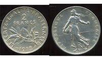 2 FRANCS  semeuse 1918    argent