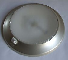 12 VOLT CEILING LAMP LIGHT SILVER 10 WATT BOAT CARAVAN VW camper van RV pod