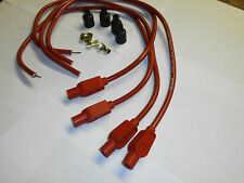 YAMAHA TDR250 TAYLOR set 2 performance ignition leads  for Dyna coils Red