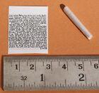 "Tiny 1"" Printed Jewish Mezuzah Scroll For Locket Pendant&Necklace Klaf Parchment"