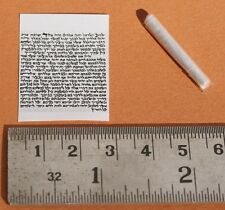 "Tiny 1"" Printed Jewish Mezuzah Scroll For Locket Pendant&Necklace Klaf Parchment"