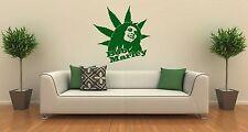 Wall Stickers Vinyl Decal Bob Marley Rastafarian Reggae Musician Cannabis ig1391