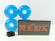 Bones Reds Bearing + Blank Pro 52mm Skateboard Clear Color Wheels + Spacer