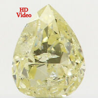 Natural Loose Diamond Yellow Color Pear I2 Clarity 4.00 MM 0.17 Ct L5589