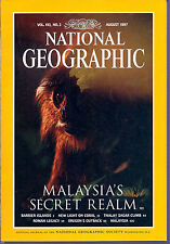 National Geographic August 1997 Malaysia's Secret Realm, Oregon's Outback !