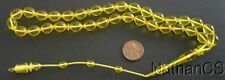 Prayer Beads Tesbih Turkish Gold Amber Catalin  Rare SUFI Carving - Collector's
