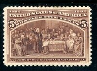 USAstamps Unused VF US 1893 Columbian Expo Soliciting Aid Scott 234 OG MLH