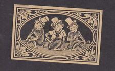 Ancienne étiquette  allumettes Suède BN78825 Trois Singes