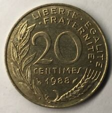 F.156 Monnaie Française 20 Centimes Marianne 1988 Achat Unitaire
