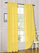 """Sheer 2Pc Window Treatments Curtain Panels 84"""" Inch Long Polyester"""