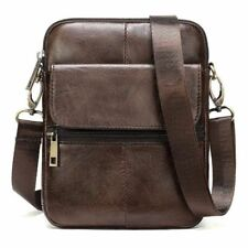 Retro Men Small Leather Bags High Quality Business Office Travel Messenger Bag