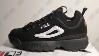 FILA MEN'S DISRUPTOR II 2 BLACK/WHITE/RED FASHION SNEAKERS US  ALL SIZES $65
