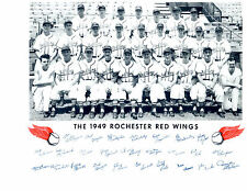 1949 ROCHESTER RED WINGS TEAM 8X10  PHOTO BOYER BILKO BASEBALL NEW YORK