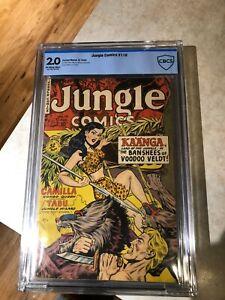 Jungle Comics #116 - Fiction House 1949 - CBCS 2.0 Grade - Off-White to White