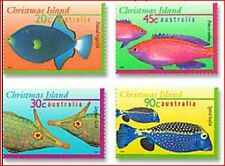 XMS767 Fishes 4 stamps CHRISTMAS ISLAND