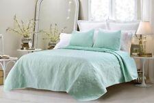 CC&DD Austin Microfiber 3-Piece Over-sized Bedspread/Coverlet Queen Sea Green